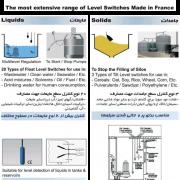 کنترل سطح مایعات و جامدات (فلوتر) ساخت فرانسه