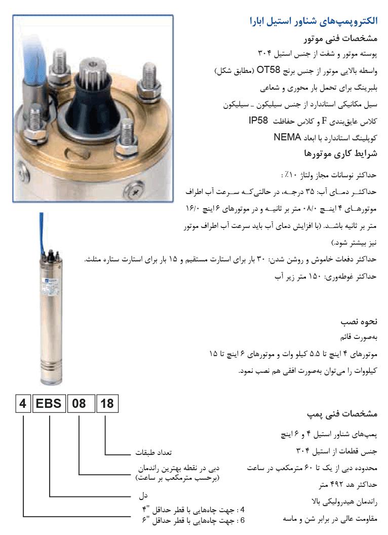 الکتروپمپ های شناور استیل ابارا