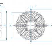 هواكش آكسيال تاسیساتی – طرح ایلکای هفت پر فلزی (بدون قاب)مکنده