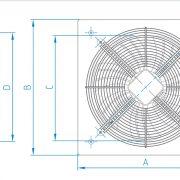 هواكش آكسيال تاسیساتی – طرح ایلکای هفت پر فلزی (با قاب)دمنده